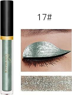 Sombra de ojos líquida, brillo a prueba de agua Shimmer Liquid Eyeliner Eyeshadow Pretty Pearl Durable maquillaje cosméticos(17)