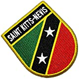 BP0220ET 01 BR44 Aufnäher mit Saint Kitts & Nevis Flagge, bestickt, zum Aufbügeln oder Nähen