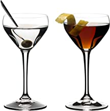 Riedel Drink Specific Glassware Nick & Nora Cocktail Glass, 2 Pieces, 4 oz, Clear