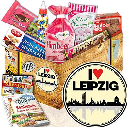 I love Leipzig / Leipzig Geburtstagsüberraschung / DDR Geschenk Süßigkeiten