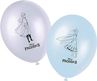 Procos Generique Disney Frozen2 Printed Balloons room decoration pack of 8 28cm, 91133,