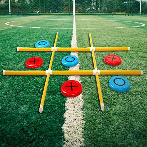 outdoor yard games OTTARO Giant Tic Tac Toe Game, Premium Portable PVC Framed Yard Toss Game, Large Outdoor Indoor Tic Tac Toe Game for Adults and Kids(4ft x 4ft)