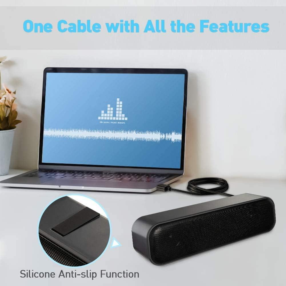 Altavoz de computadora altavoz port/átil barra de sonido USB para ordenador altavoz USB mini barra de sonido sonido est/éreo altavoces USB para ordenador escritorio tabletas