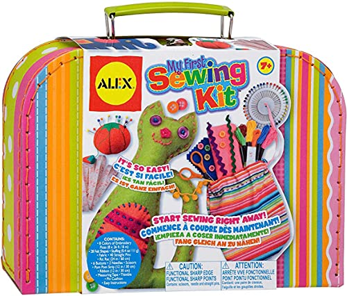 Product Image of the My First Sewing Kit by Alex Crafts, Perfect Sewing Kit for Beginners, Arts and...