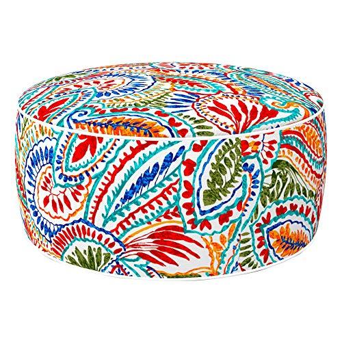 Aktive Ottoman 79035 Sitzsack, aufblasbar, Polyester, wasserabweisend, 53 x 23 cm, ethnisch, Mehrfarbig, Verschiedene Muster