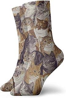Dydan Tne, Gatos empacados Calcetines de Vestir Calcetines Divertidos Calcetines Locos Calcetines Casuales para niñas Niños