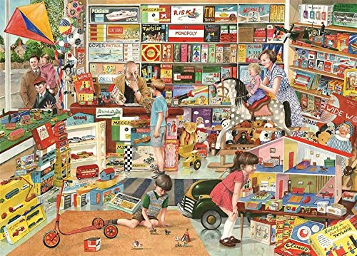 Puzzle 300 Piezas Adultos Tienda de Juguetes Vintage Juegos de Habilidad para Toda la Familia,Regalos para Familiares y Amigos