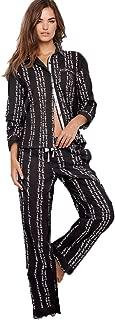 Victoria's Secret The Lightweight PJ Cotton Mayfair Pajama Set, Black Script, X-Small