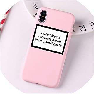 Social Media Seriously Harms Your Mental Health Phone case for iPhone X XR XS MAX 8 7 6 6s Plus Soft Silicone Back Cover Capa,190014,for iPhone 6 6s