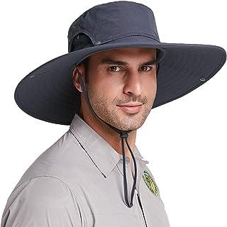 viajes para actividades al aire libre Sombrero de pescador de ala ancha Unimango senderismo protecci/ón ultravioleta y secado r/ápido campamentos