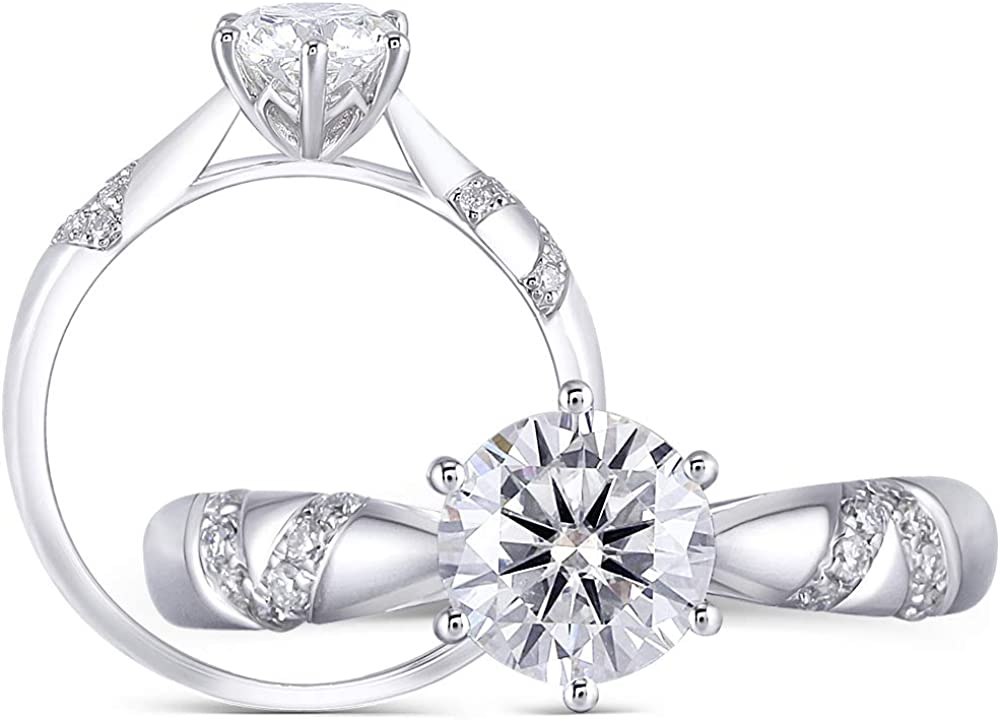 Excellence Sterling Silver 1ct 6.5mm G-H-I Moissanit Max 72% OFF Arrows Cut Heart Color