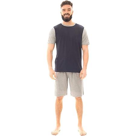 Sock Stack Mens Short Pyjama Set Cotton Pyjamas T Shirt Shorts Loungewear Sets