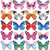 20 Pack Assorted Color Glitter 90S Butterfly Hair Clips Hairpins Mini Small Claw Snap Clasp Pins Barrettes Alligator Clamps Head Accessories Wedding Bridal Hair Styling Bows for Girls Teens Women [並行輸入品]
