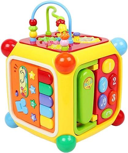 grandes ofertas Cajas Cajas Cajas de música Juguetes educativos para Niños Mesa de juegos multifunción 0-1-3 años de edad Seis lados Entretenimiento Juguetes musicales Juego multifacético Juguetes interactivos dan a los Niños el  alta calidad