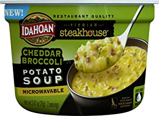Idahoan Steakhouse Cheddar Broccoli Potato Soup, Made with Gluten-Free 100-Percent Real..