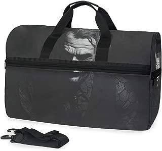 Scary Face Joker Extra Large Sports Gym Equipment Weekend Travel Duffel Bag Men Women