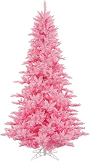 Vickerman Fir Tree with 234 PVC Tips & 100 Dura-lit Style Lights on Wire, 3', Pink