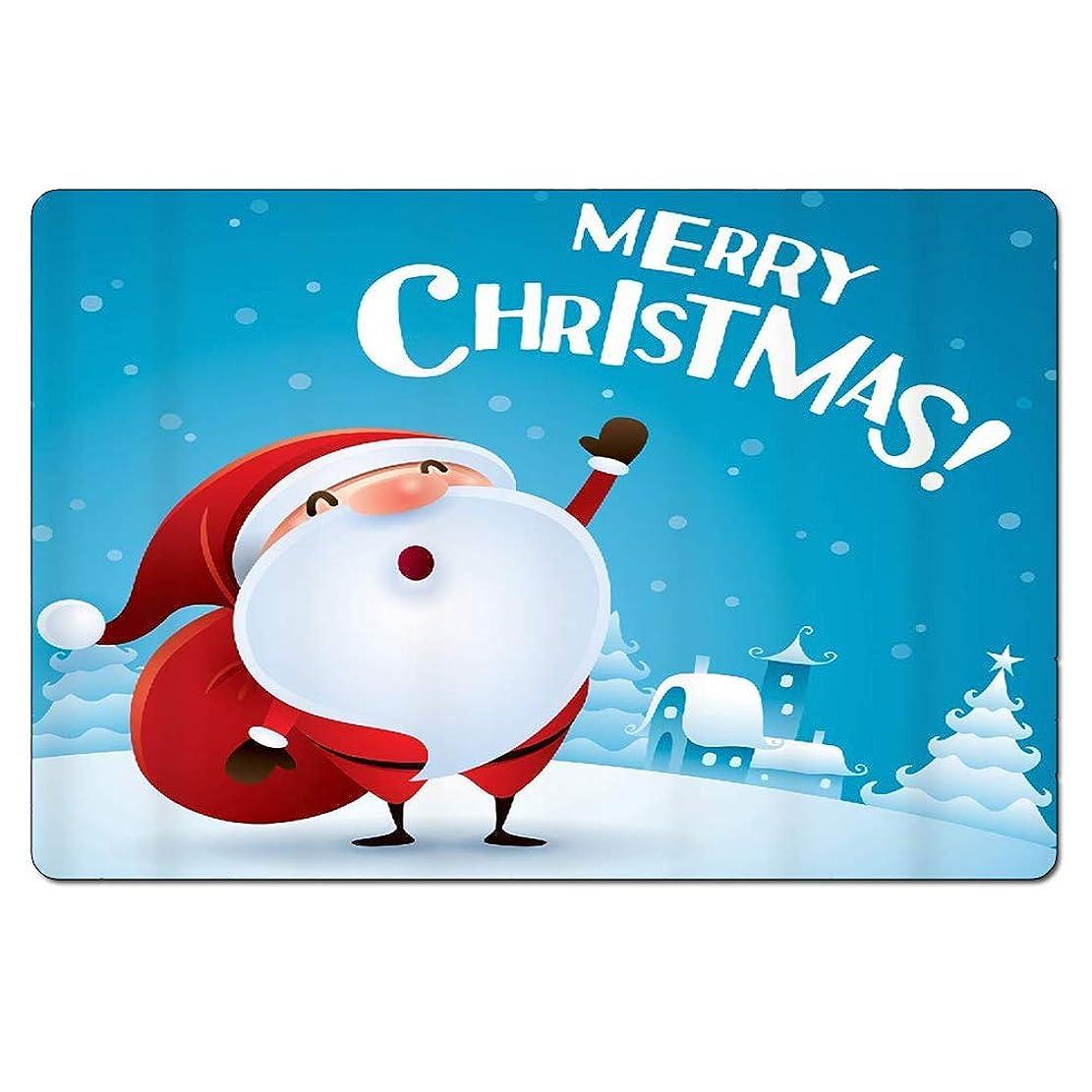 に関してシネマミネラル面白い玄関クリスマステーマエリアラグホームインテリアロープロファイルラグブートスクレーパー滑り止め屋外/屋内玄関マット、家フクロウバット印刷 60x40cm