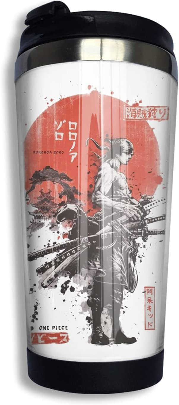 One Piece Samurai Challenge the lowest price Roronoa Zoro Anime Sales for sale Print Thermos 3d Coffee Cup