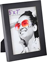 RPJC 5x7 Picture Frames Made of Solid Wood High Definition Glass for Table Top Display and Wall Mounting Photo Frame Black