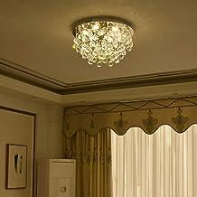 Crystal Ceiling Light LED 3 Brightness Crystal Chandelier Chandelier Ceiling Light Suitable for Staircase Corridor Living ...