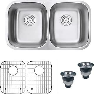 porcelain double sink