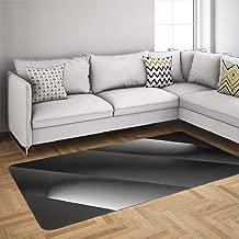 Black Gray Geometric Area Rugs, Flannelette Fabric Anti-Skid Large Area Rugs Rays Light Studio Shot Screens Abstract Black Minimal Home Decor Floor Rug Dorm Area Rug 60 x 84 Inches, Rays Light Studio