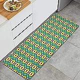 PATINISA Alfombra de Cocina,Lámina artística Vintage Groovy Bauhaus Art,Antideslizante Estera Cocina Lavable Alfombrillas Absorbentes Pasillo alfombras,120x45cm