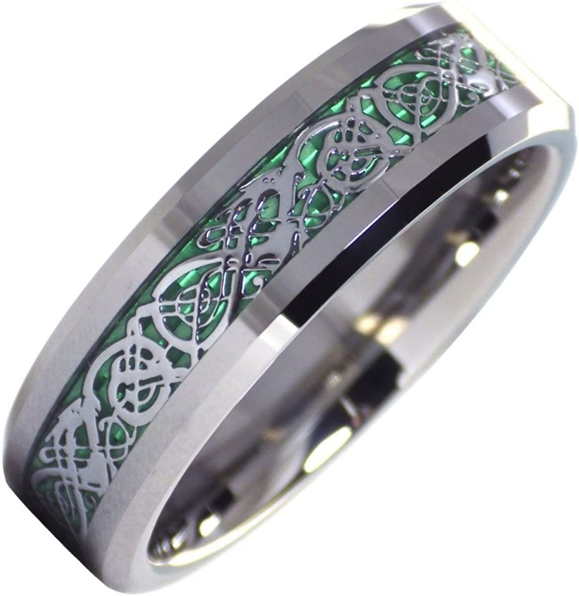 Fantasy Forge Jewelry Tungsten OFFicial shop Celtic Mens Dragon Max 51% OFF Ring Gr Womens