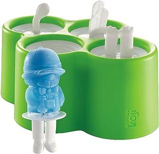 ZOKU Safari Pops Ice Lolly Moulds, Silicone, Multi-Colour, 14 x 18 x 8 cm