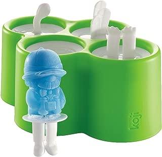 Koji Safari Popsicle Molds, 4 Ice pops, (BPA & PHTHALATE FREE)