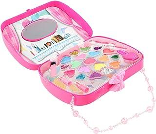 Blesiya Kids Makeup Jewelry Box for Girl – Safe Washable Princess Cosmetics Set Eyeshadows, Lipstick, Nail Polish Beauty Set