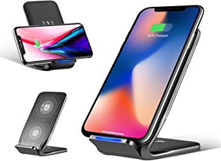 rock space ワイヤレス充電器 qi 急速 ワイヤレス 充電器 置くだけ充電 iphone xs max/iphone x/galaxy s9 plus / note9 スマホ ワイヤレス充電器