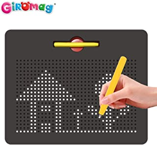 Giromag Magnetic Tablet - STEM Educational Magees Pad Learning Drawing Board - Lage Size Free Play Magnetic Doodle Board - Includes A Pen, Black