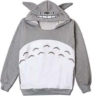 Men Women Couples Totoro Print Hoodie Sweatshirt Teen Sweater Pullover Tops