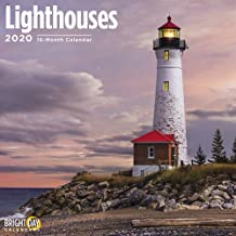 2020 Lighthouses Calendar 16 Month 12 x 12 Wall Calendar by Bright Day Calendars