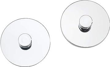 colore: Bianco 2,5 x 4 x 2 cm Set di 3 ganci ovali in plastica da parete Wenko 4421013100