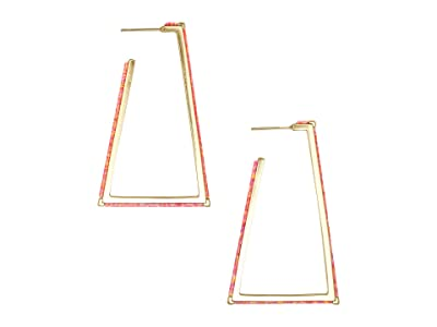 Kendra Scott Easton Earrings (Gold/Coral Opal) Earring