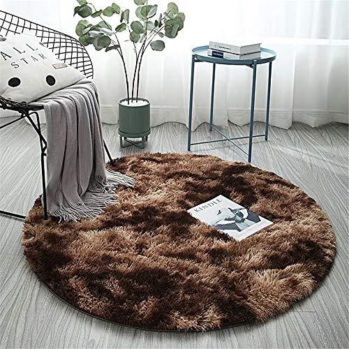 MMHJS Nordic Runden Teppich Tie-Dye Wohnzimmer Couchtisch Plüsch Teppich Schlafzimmer Nachttisch Computer Stuhl Yoga-Matte