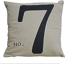 Decorbox Simple Fashion Square Linen Throw Pillow Cases