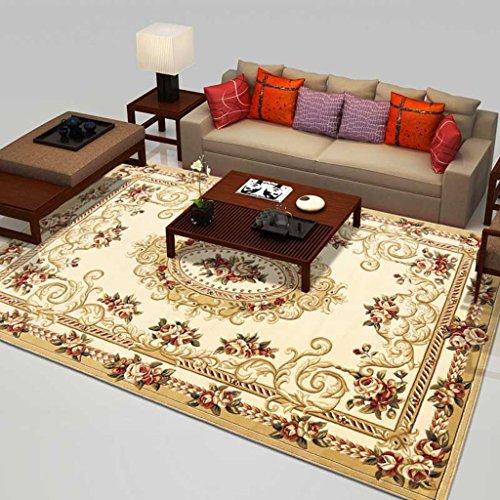 Wvfguj Tavolino Divano Semplice Comodino Manuale Intagliato Tessuto Ispessimento Tappeto Coperta (Color : D, Size : 1.4 * 2m)