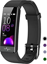 QOOGOT Fitness Tracker with Blood Oxygen SpO2 Blood Pressure Heart Rate Sleep Monitor for Men Women,Waterproof Activity Tracker with HRV Pedometer,Health Smart Watch Compatible Android iPhone