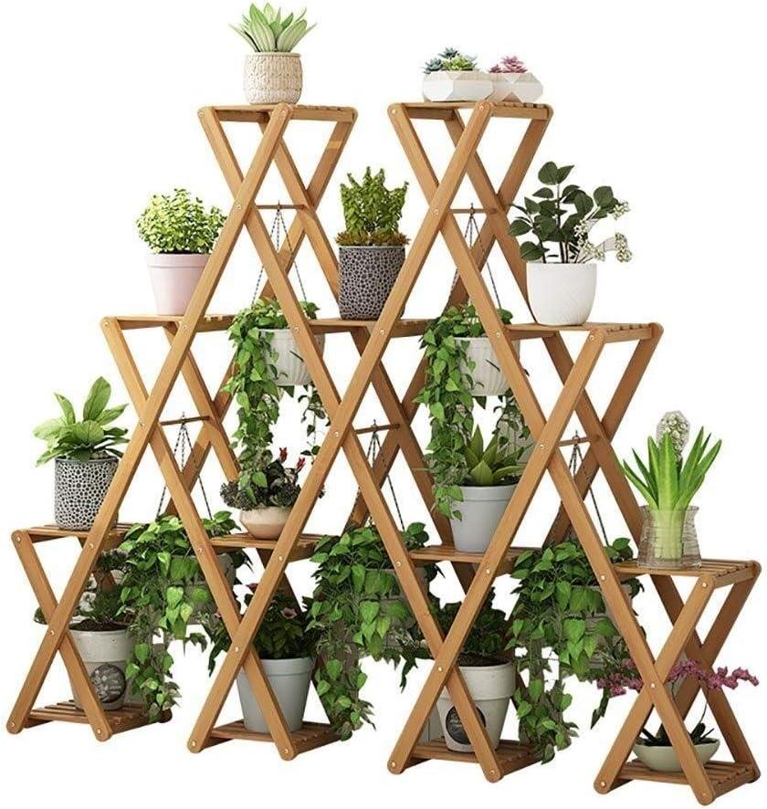 Flower depot Stand Popular brand Multi-Layer Indoor Solid Rack Wooden Stora Pot Wood