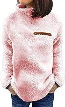 Realdo Womens Sweater Coat, Women Solid Zippers Turtleneck Blouse Fleece Sweatshirt Pullover Tops Shirt