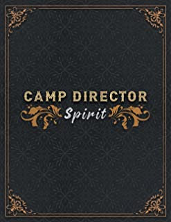 Camp Director Lined Notebook - Camp Director Spirit Job Title Working Cover To Do Journal: Small Business, 8.5 x 11 inch, ...