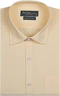 7443be51 ACCOX Half Sleeve Regular Fit Plain Formal Shirt for Man,Formal Shirts,100%