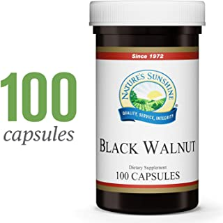 Nature's Sunshine Black Walnut, 100 Capsules   Helps Maintain The Intestinal System and Supports The Immune System in its Battle Against Invaders