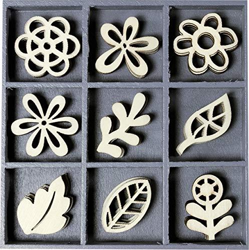 C'Art-us Boîte en Bois avec décorations Floral Fantasy, Naturel
