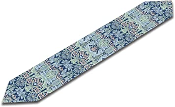 JEKBH William Morris Bluebell Columbine Table Runner 13 X 90 Inch Non-Slip Heat Resistant Modern for Kitchen Dining Wedding Home Decor Gift Housewarming