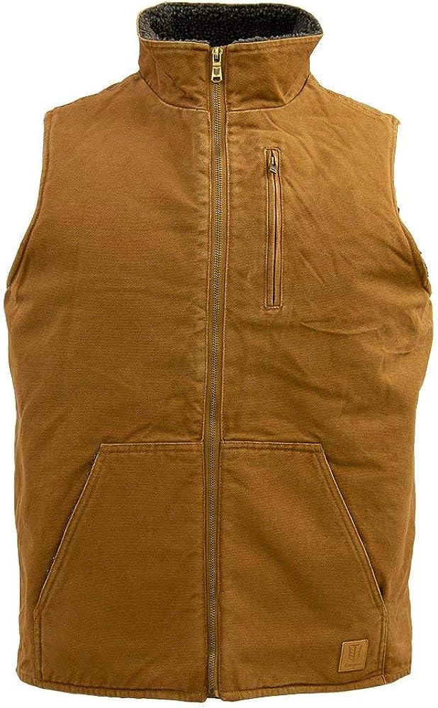 Tempco Men's Canvas Sherpa Lined Vest - TM233-WHEAT